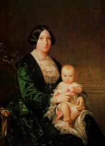 1 PALACIO BUENAVISTA Isabel II con la Infanta Isabel, F. MADRAZO S.XIX EJERCITO (2)