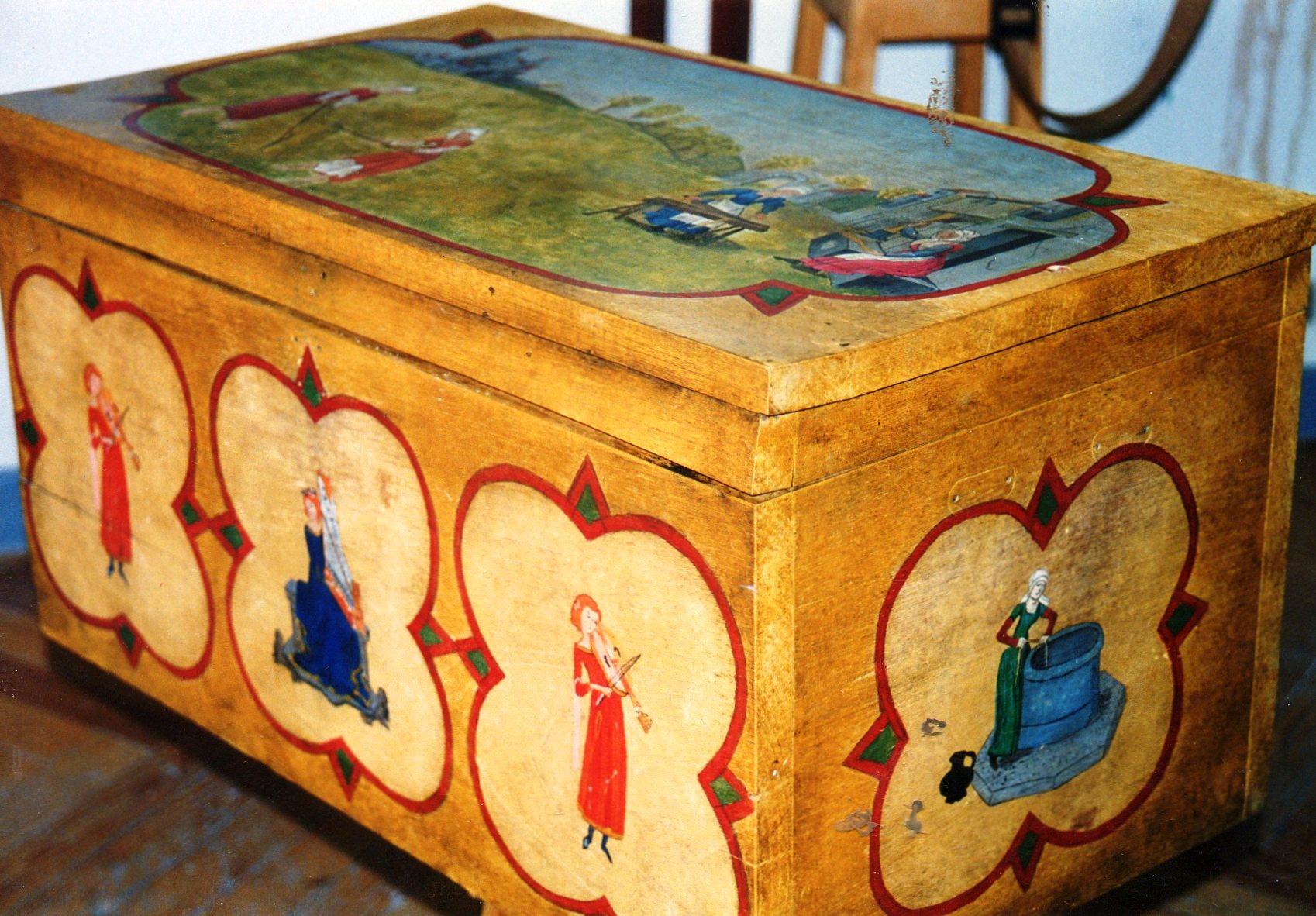 Muebles pintados ram n cano pic - Muebles de mimbre pintados ...
