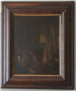 "2 TABLA HOLANDESA siglo XVII -Interior-""VAN OSIADE""  (1)"