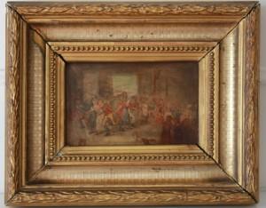 2 TABLA HOLANDESA siglo XVIII. -Kermes-(1)