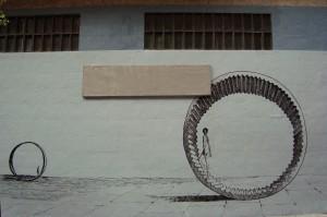 MURAL FACHADA FUNCIÓN LENGUAJE Detalle ruedas