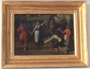 2 TABLA HOLANDESA siglo XVII. -Danza (4)